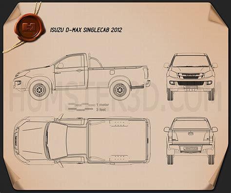 isuzu  max single cab  blueprint humd