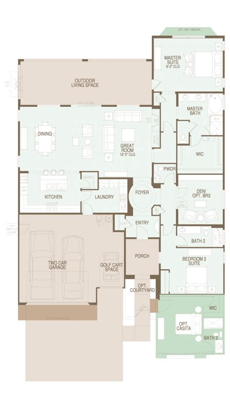 saddlebrooke pima floor plan   great room