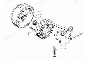 Arctic Cat Atv 1999 Oem Parts Diagram For Magneto Assembly