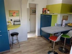 Meuble Pour Petit Espace : magasin meuble antibes 5 cuisine vintage en u pour ~ Premium-room.com Idées de Décoration