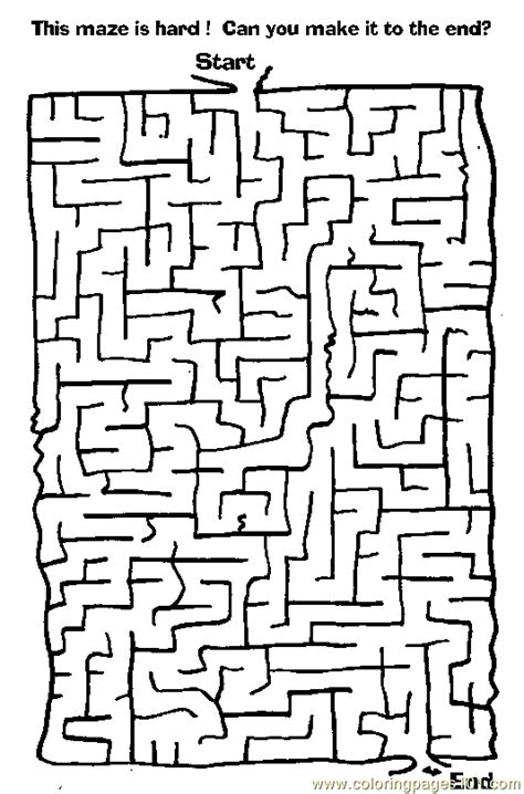 maze  coloring page  mazes coloring pages