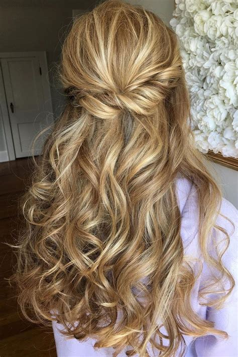Half Updo Wedding Hairstyles by Half Up Half Bridal Hairstyles Partial Updo Wedding