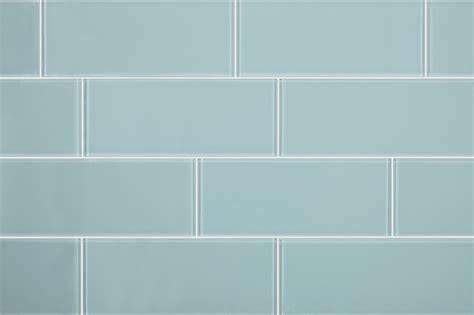 aqua blue glass subway tile modern tile