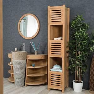 meuble sous vasque simple vasque en bois teck massif With camif meuble salle de bain
