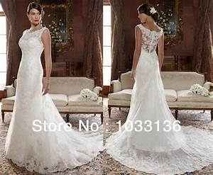 flare and fit see through lace covered back country With rustic wedding dresses for sale