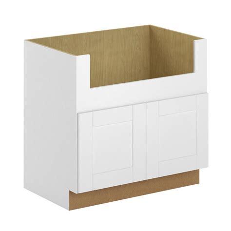 apron sink base cabinet hton bay princeton shaker assembled 36x34 5x24 in