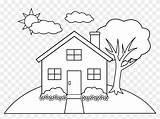 Colouring Coloring Drawing Pages Simple Line Clip Hill Houses Buildings Drawings Printable Architecture Sheets Easy Tree Getdrawings Pngitem Pngfind Vertical sketch template
