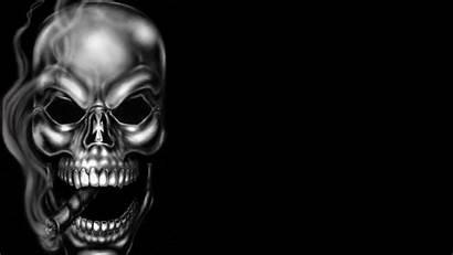 Skull Smoking Smoke Wallpapers Dangerous Skeleton Calaveras