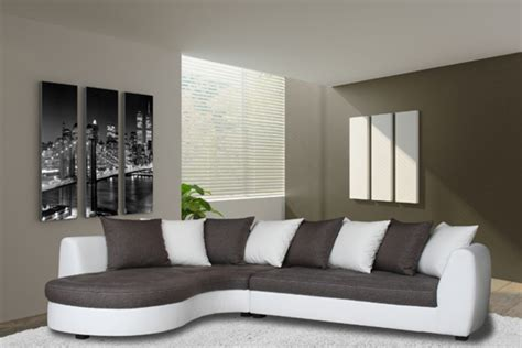 canape d angle 192 gauche haricot blanc gris taupe