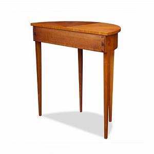 Demi lune tisch mit schublade bei stilwohnen kaufen for Tisch mit schublade