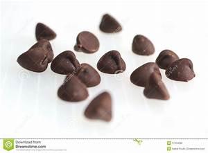 Chocolate chips stock photo. Image of cream, tasty, dark ...