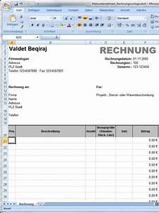 Kleinunternehmen Rechnung : mehrseitige rechnungsvorlage f r microsoft excel ~ Themetempest.com Abrechnung