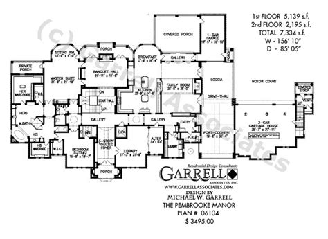 mansion floorplan pembrooke manor house plan estate size house plans