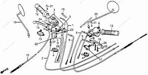 Honda Motorcycle 1980 Oem Parts Diagram For Control Levers
