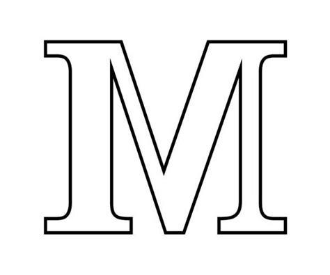 block letter m coloring book letters clipart best 29509