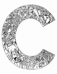 letter c color page - kids n fun 26 kleurplaten van alfabet dieren
