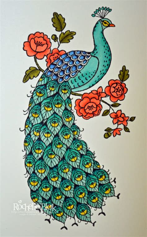 97 How To Draw A Peacock Easy Peacock Drawing And Coloring Pages