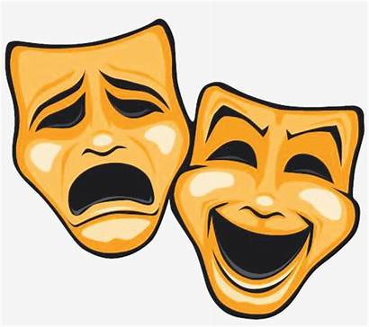Comedy Masks Tragedy Mask Theatre Clipart Transparent