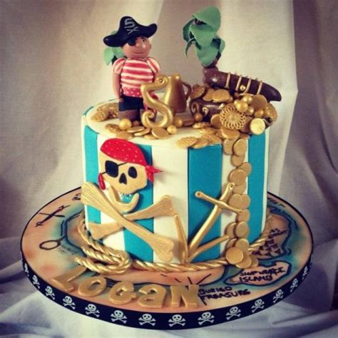 boys pirate themed cake cake by cakesdecor