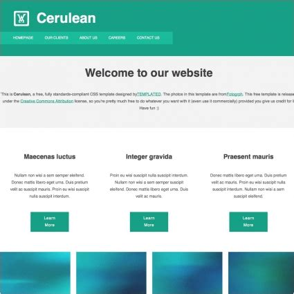 Simple Html Template Cerulean Free Website Templates In Css Html Js Format