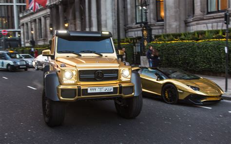 mercedes benz jeep gold gold plated mercedes bentley and lamborghini flown to
