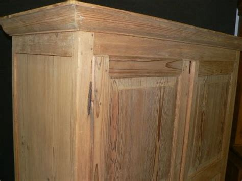 Small Antique Pine Wardrobe