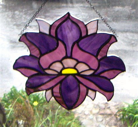 Stained Glass Lotus Design  Arts And Crafts Pinterest