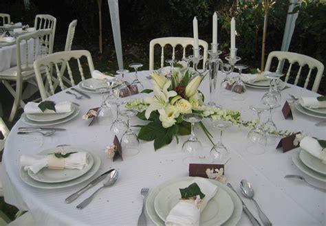 deco de table mariage et blanc deco table mariage vert et blanc