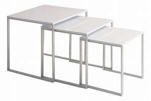 Table D Appoint Gigogne : table basse gigogne enora laqu blanc ~ Teatrodelosmanantiales.com Idées de Décoration