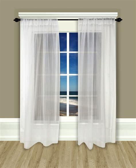 rod pocket curtain panel pair atlantic stripe sheer
