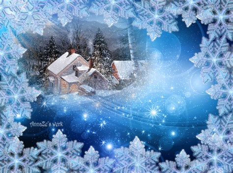 touching hearts christmas winter animated gif