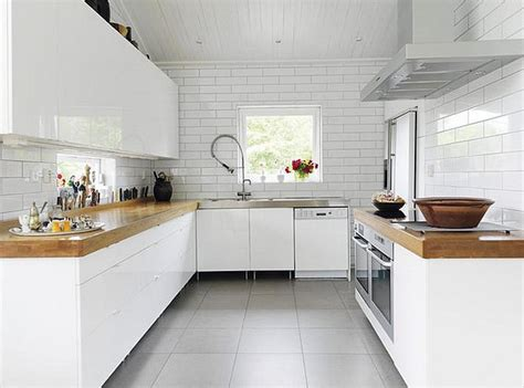 White Kitchens And Wood Countertops  J Aaron