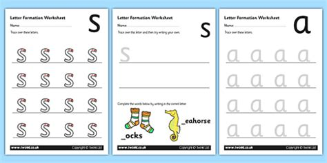 phase  letter formation worksheets phase