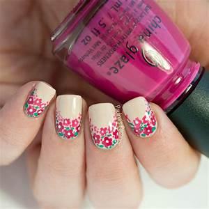 Easy Floral Nail Art Tutorial - Paulinau0026#39;s Passions