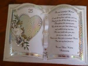 25th wedding anniversary wishes handcrafted by helen silver wedding anniversary card