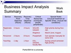 it business impact analysis template - business impact analysis template