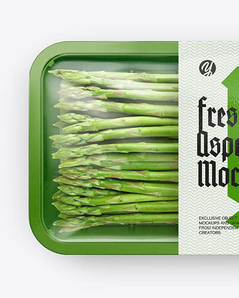 You can easily put your branding or logo on these. Vegetable Packaging Mockup Free - Plastic Tray With ...