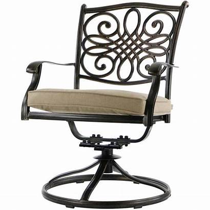 Patio Dining Tan Hanover Piece Traditions Swivel