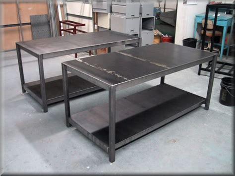 homemade steel table  garage yahoo image search