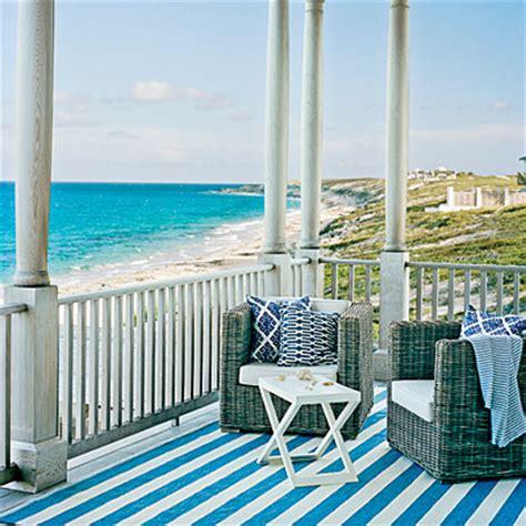 blue striped porch 65 beachy porches and patios