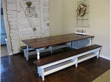 Farm Style Dining Room Table Benches With Storage Bench