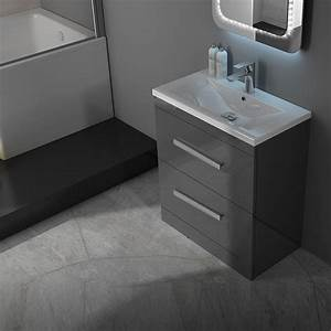 Patello 60 Grey Vanity Unit And Basin 2 Draws Buy Online ...