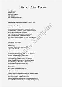Resume Samples  Literacy Tutor Resume Sample