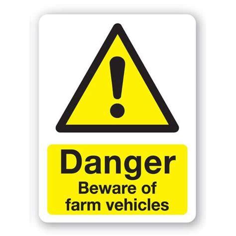 danger beware farm vehicles sign xmm
