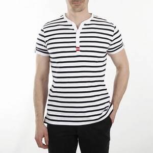 T Shirt Mariniere Homme : t shirt marini re manches courtes et col tunisien homme ~ Melissatoandfro.com Idées de Décoration
