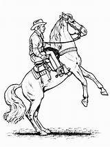 Cowboy Coloring Pages Horse sketch template