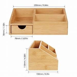 Schreibtisch Organizer Basteln : homfa bambus aufbewahrungsboxen schreibtisch organizer ordnungsbox officebox ordnungsboxen aus ~ Eleganceandgraceweddings.com Haus und Dekorationen