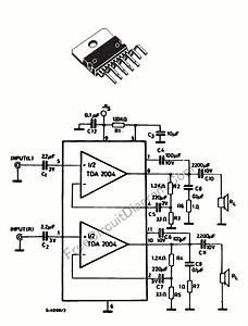 20 Watts Car Stereo Amplifier Using Tda2004  U2013 Electronic
