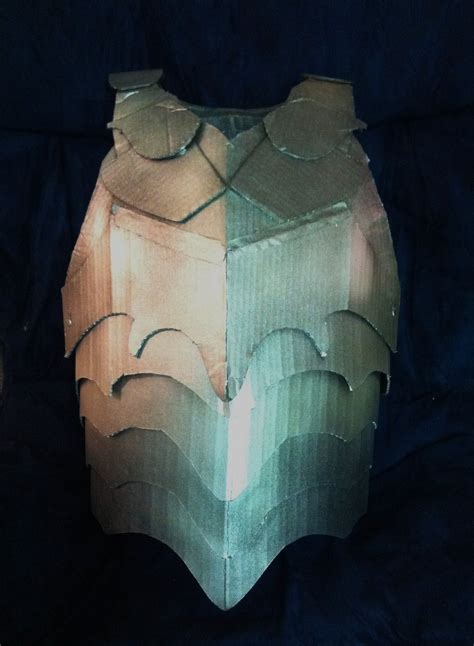 cardboard armor cardboard breastplate armor by sabrepanther on deviantart
