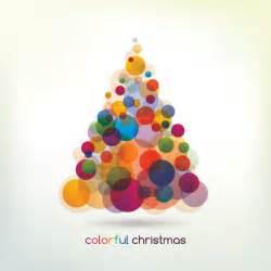 colorful christmas tree vector graphic christmas tree